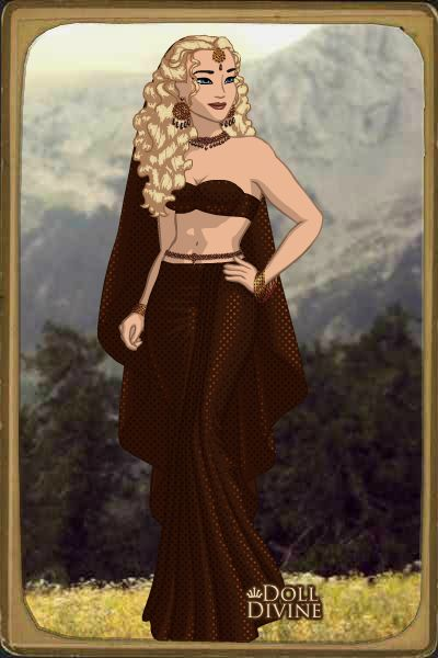 Princesa Alexandra en traje Árabe