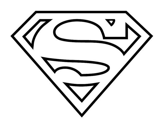 Resultado De Imagen Para Molde Logo Superman Superman Para Colorear Escudo De Superman Logo Superman