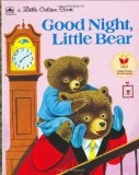 """By Patricia and Richard Scarry... It's about a little bear who doesn't want to go to bed, so he """"hides"""" on his dad's shoulders and the father goes around looking for him."""