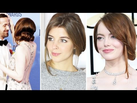 Emma Stone Golden Globes Starfrisur | FrisurenFreitag | Lovethecosmetics - YouTube