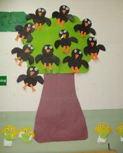 crow bulletin board idea