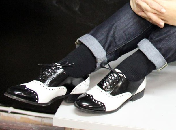 black and white brogues!