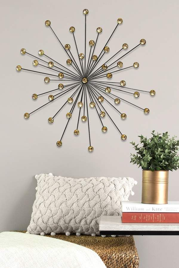 Stratton Home 24 Amber Acrylic Burst Wall Decor Ad Decor Wall Decor Home Decor