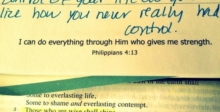 A Blog About Life: Philipians 4:13