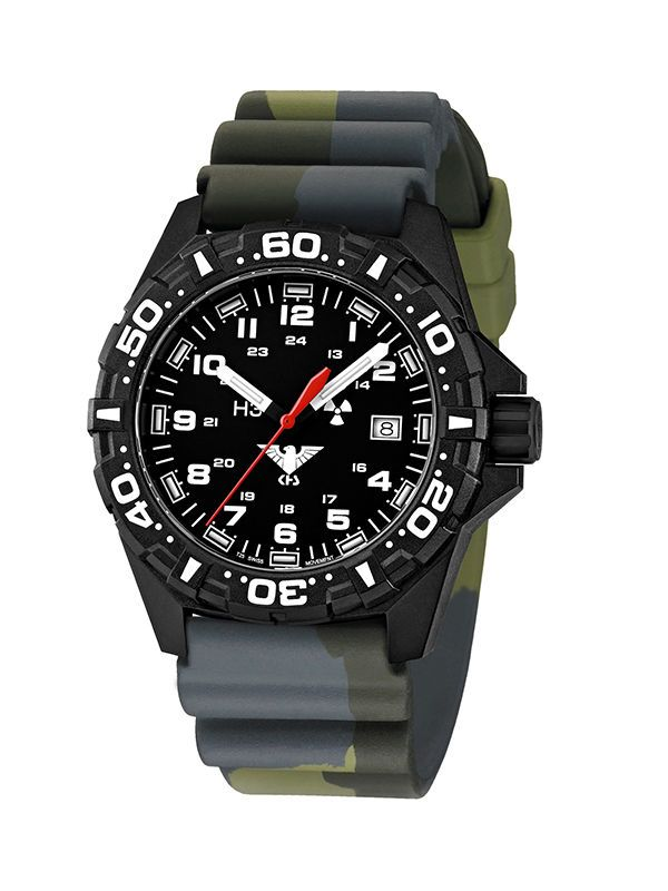 KHS Tactical Watches Reaper Army Red Trigalights© Date Field Gear KHS.RE.DC3…