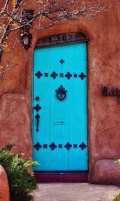 Southwest door - Canyon Road Santa Fe New Mexico & 304 best Southwestern Homes images on Pinterest   Facades French ...
