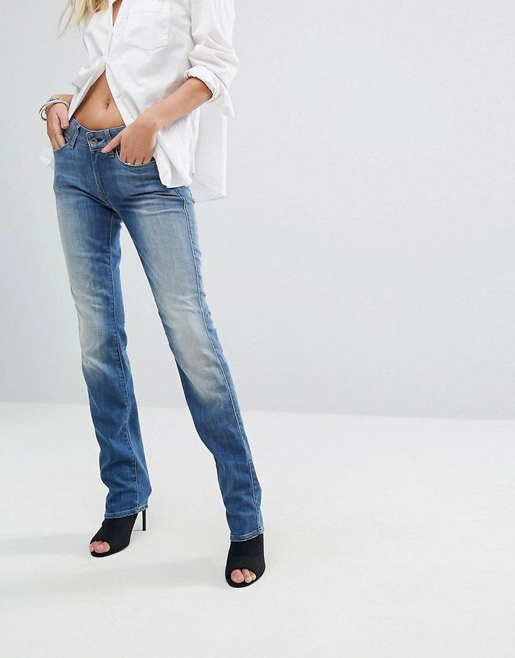 G-Star Genzia Straight Cut Jeans - Blue