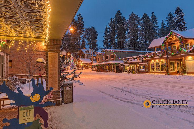 Main Street of Bigfork, Montana