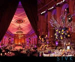 Purple And Gold Wedding Reception - Bing Images