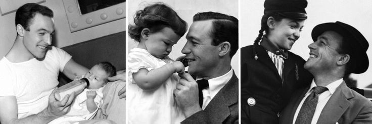 Gene Kelly with his oldest child, daughter Kerry, born in 1942