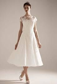 image result for dress cap sleeve weddingtea length