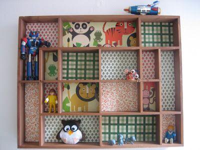Setzkasten, shadow box, bacheca, cveille casse, casier