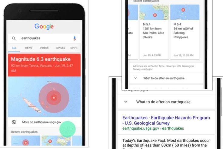 #Buscadores #google #terremoto Google ahora muestra datos de terremotos en su buscador