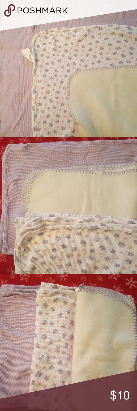 Girls baby blankets 2 are of thermal material, one is soft felt Accessories
