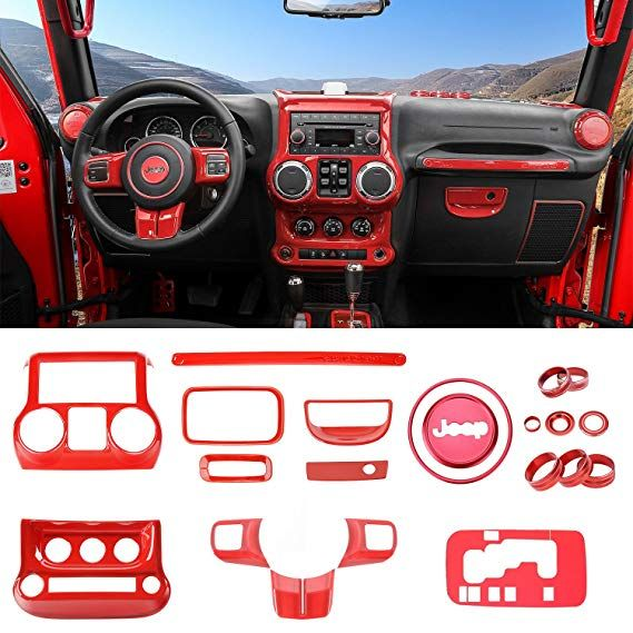 Rt Tcz Full Set Interior Decoration Trim Kit Trim For Jeep