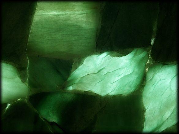 Jaccana | Green Quartz Backlit | Semiprecious Stone Tile & Slab