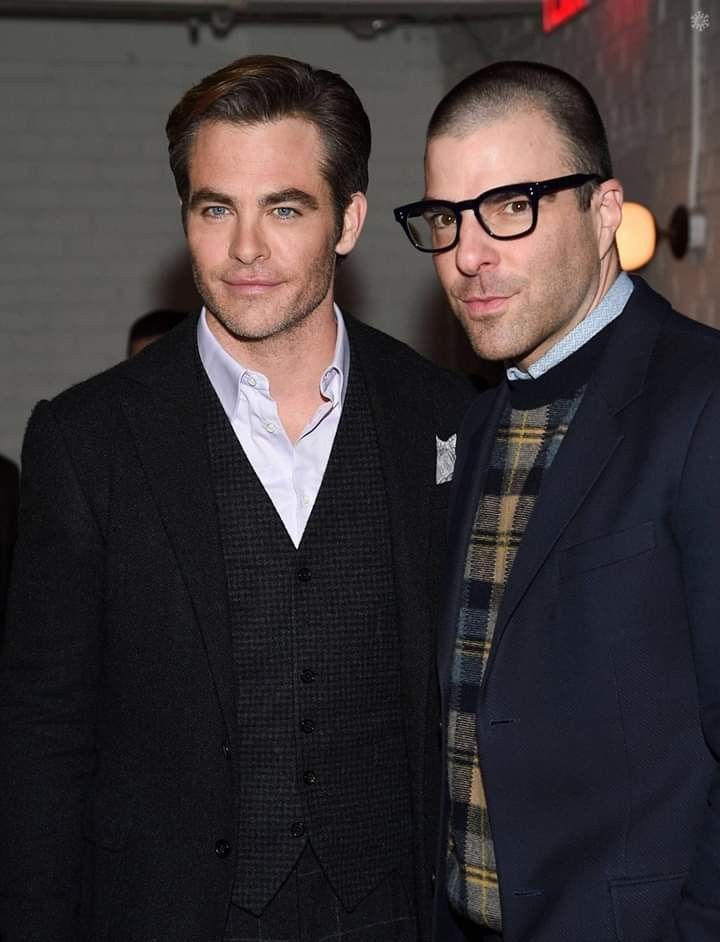 Chris Pine And Zachary Quinto Chris Pine Zachary Quinto Premiere