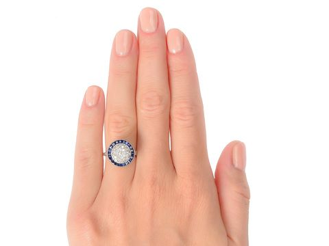 Circle of Life - Sapphire Diamond Ring