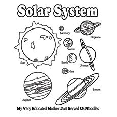 Solar System Coloring Pages - Our Solar System