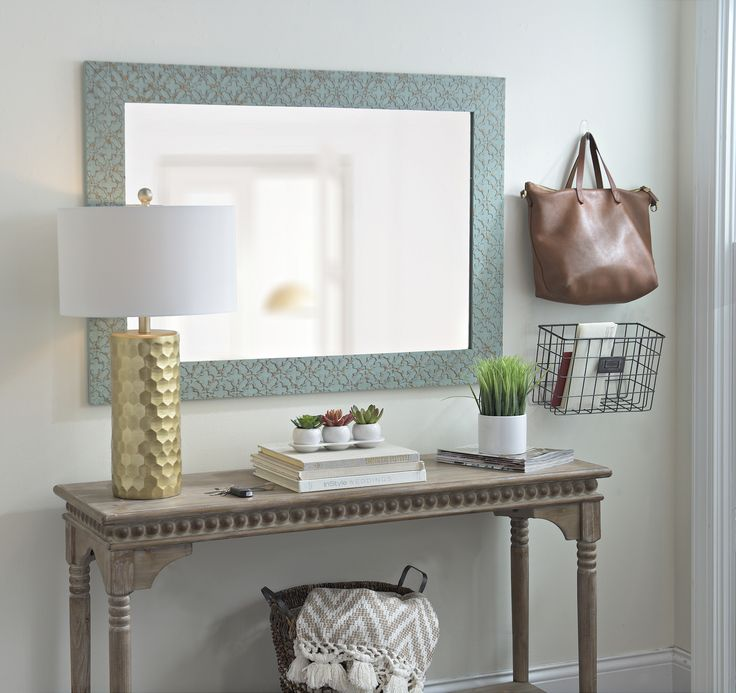 Create the feeling of a larger space with a new mirror! Shop select framed mirrors like the 'Cottage Blue Clover Mirror' at $44.98 through 1/29 during our Semi Annual Sale.