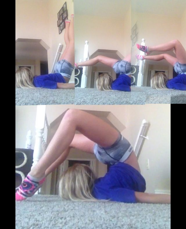 """How to do a chin stand if you have difficulty rolling or """"falling"""" into one!!! (This is me) -brennadearly"""