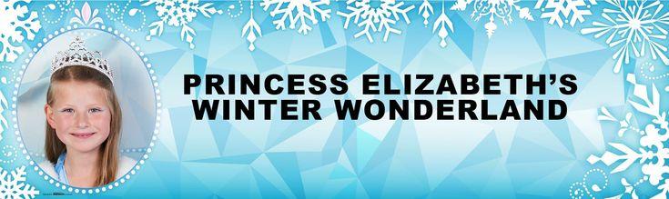 Snowflake Winter Wonderland Personalized Photo Vinyl Banner from BirthdayExpress.com