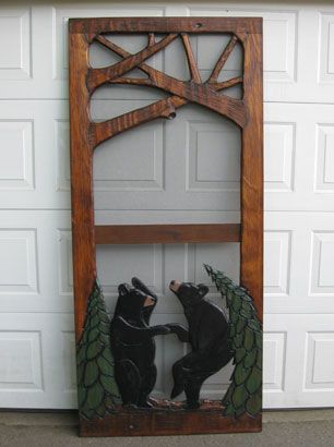 Dancing Bears Carved Screen Door Home Ideas Pinterest