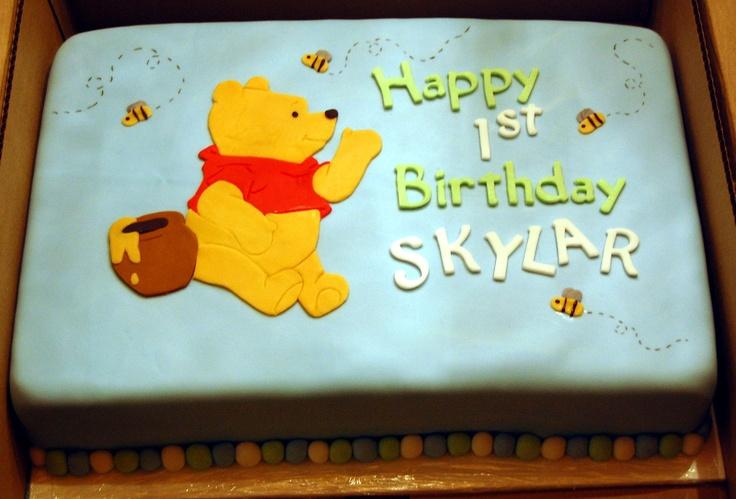 Winnie the Pooh 1st Birthday Cake  Party Ideas  Pinterest