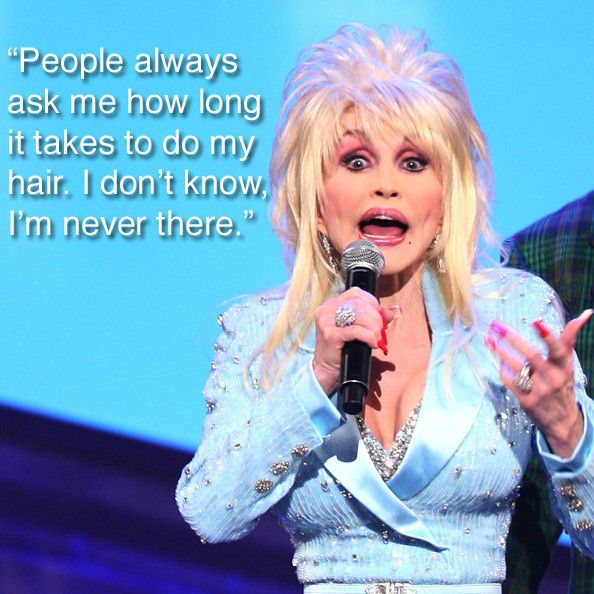 Yes, Dolly Parton wears a wig.