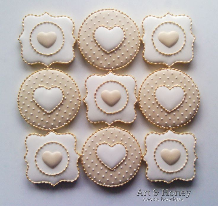 Engagement And Wedding Cookie Ideas: A Collection Of Ideas