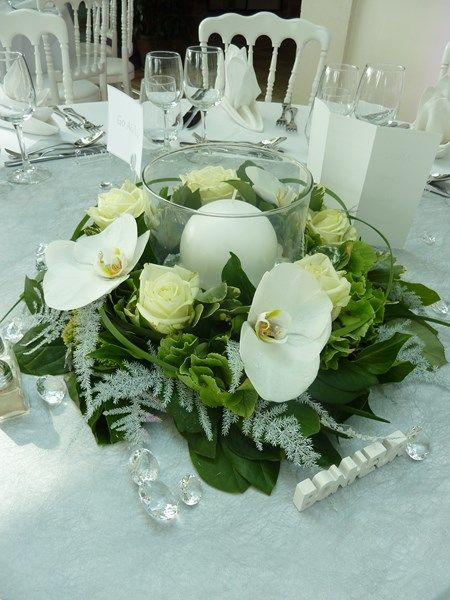 Best 25 composition florale mariage ideas on pinterest for Composition florale table