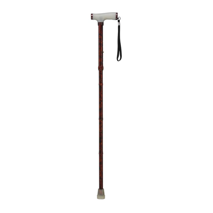 Drive rtl10304cr Folding Cane with Glow Gel Grip Handle, Copper