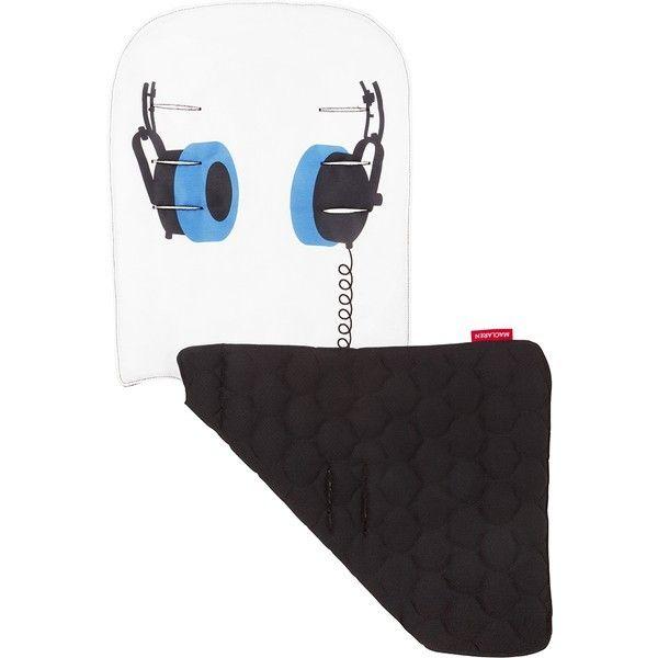 Assise poussette Maclaren réversible headphones - snow black