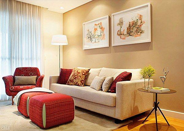 Sala De Estar Bege E Marrom ~  sala de estar cores para sala de estar sala de estar pequena ideias de