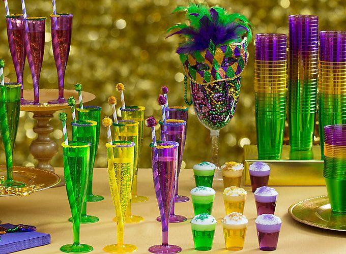 Mardi Gras King Cake & Cocktails Ideas