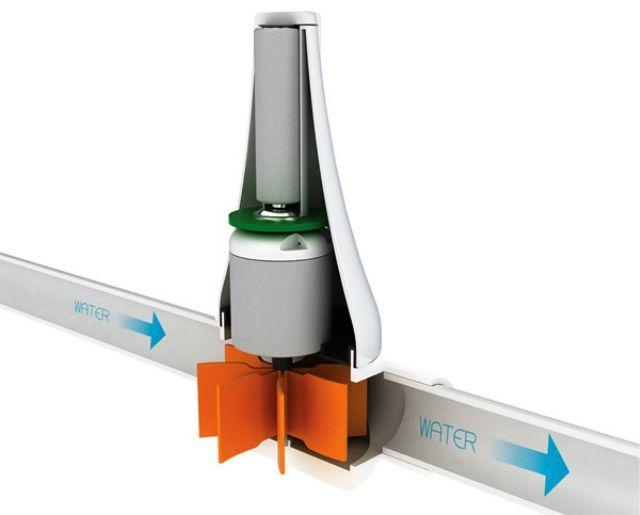 Pequeña turbina hidroeléctrica personal para energía gratis