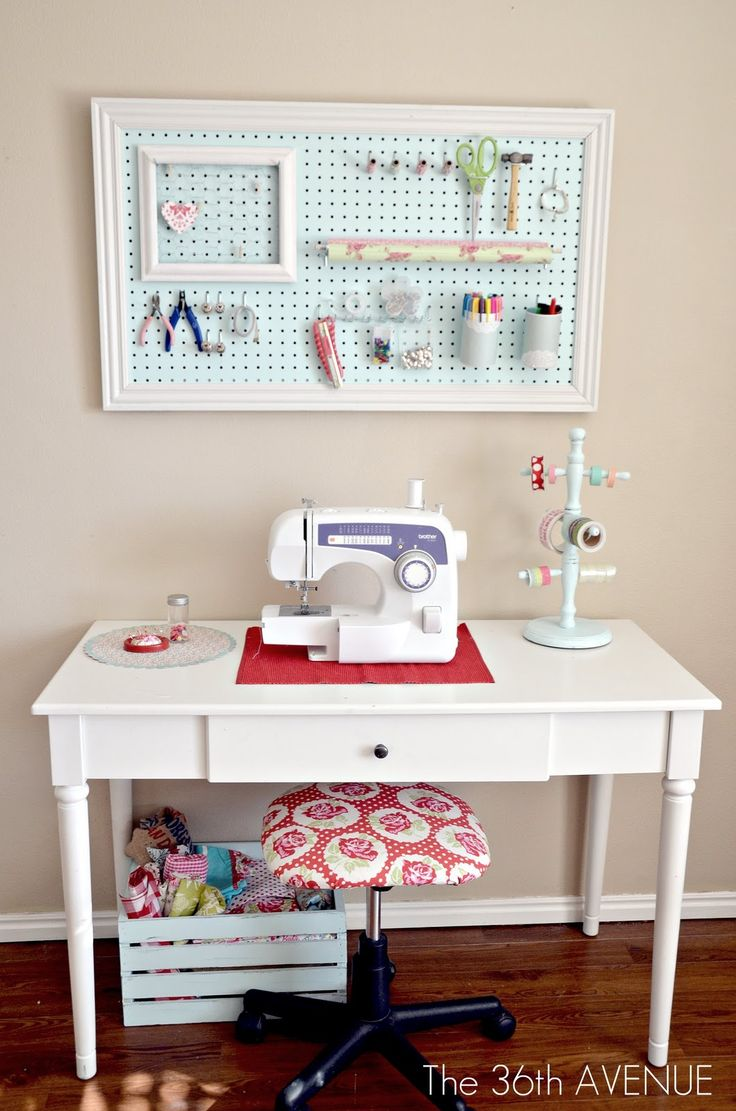 adorable small sewing space and lots of pretty storage ideas the 36th avenue my