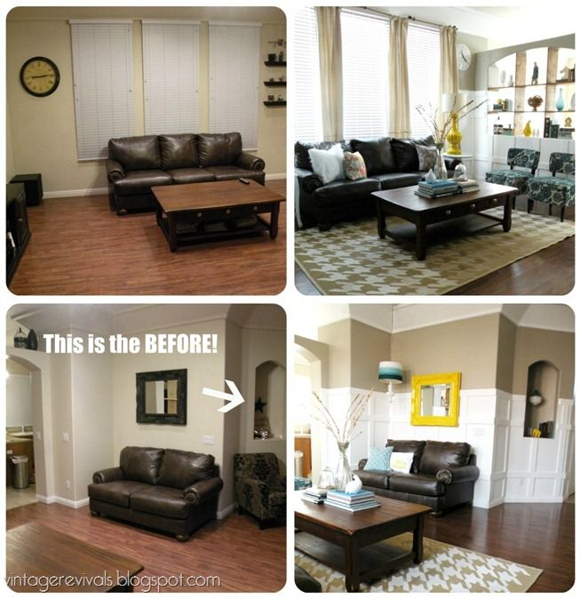 Living Room Makeover: Whole Rooms Made Over W/ Diy