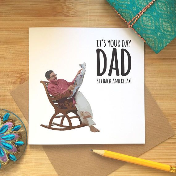 Indian Dad Card, Funny Father's Day Card, Desi Jokes
