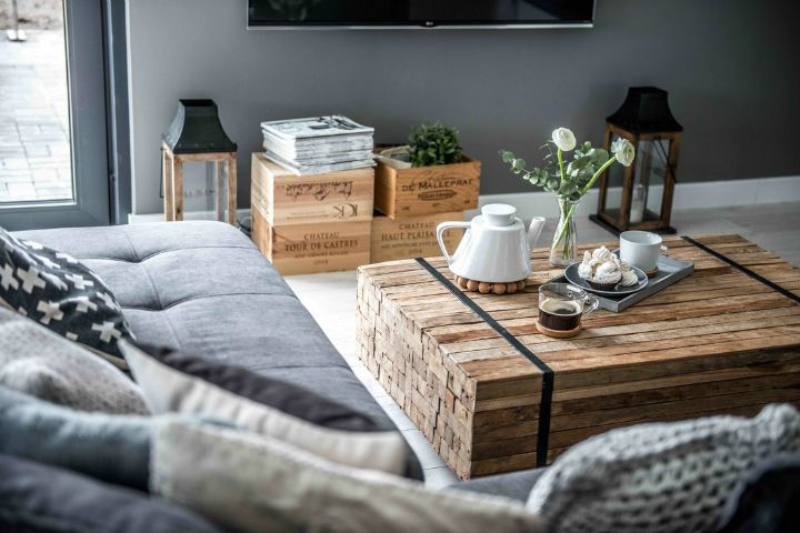 Нордик серый современный дизайн домашнего интерьера 8
