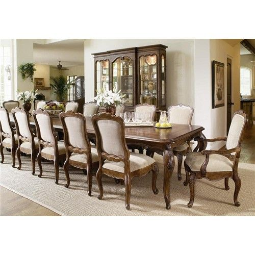 Bordeaux Large Dining Room Table And Side Arm Chair Set By Century