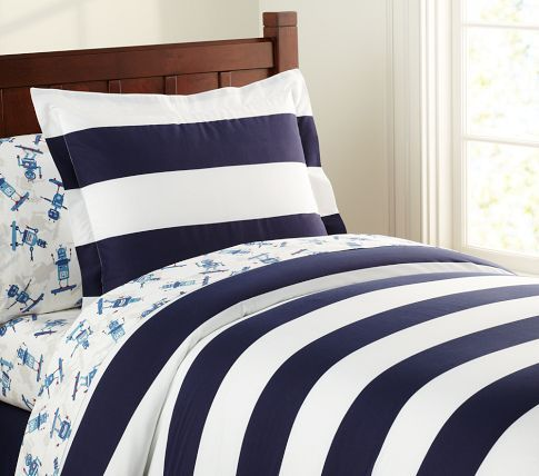 Pottery Barn Kids Boys Room Navy Stripe I Don T Like The