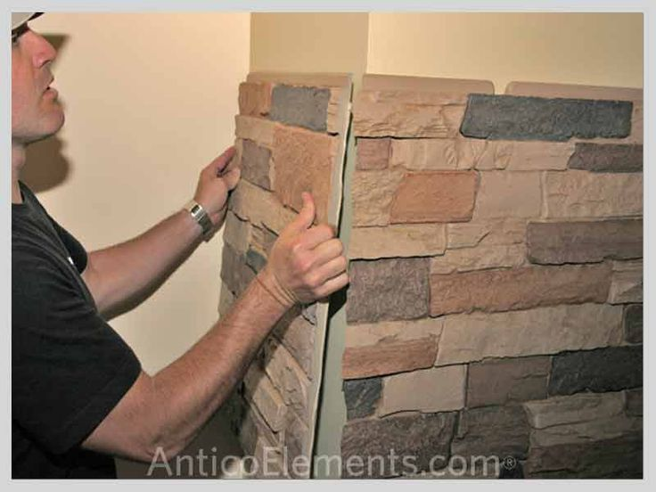 Faux stone wall panels - easier then drywall?  mdb