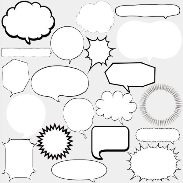 WEBやDTPに便利な吹き出し素材集|フキダシデザイン