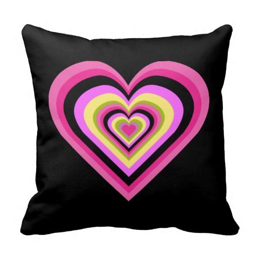 Valentine Heart Rainbow Colorful Throw Pillow 4 $38.95 -- click for sales!!!!!!