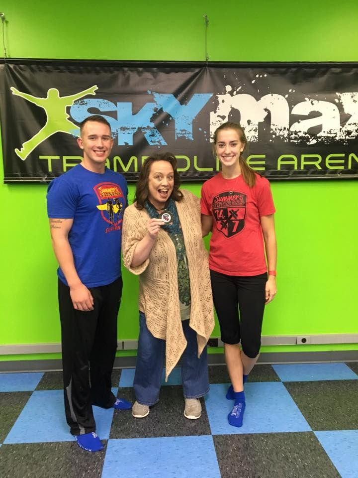 Congrats to SuperMom Maggie with her son Coach Devin and his girl friend Kathleen!  Thank you the Superhero Challenge sponsors: Skymax, Clothes Mentor, Once upon a Child, Koi Salon, Maxx Fuel Meals, Marhofer Auto Family, Lucia's Steakhouse!  What a great time in the 6 week Superhero Challenge!  Thank you to Jojutlas Mexican Grill for providing such healthy and tasty foods for our Superheros http://summersfitness.com/