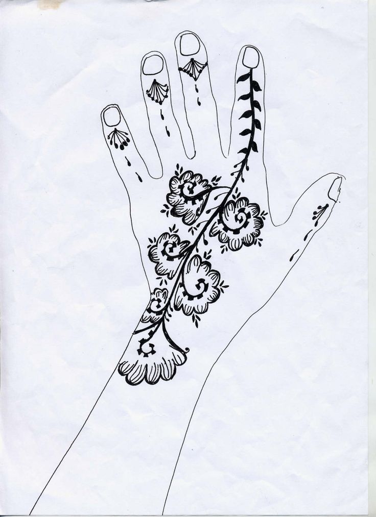 Mod les mains id es d co pinterest plus d 39 id es - Dessin henne main ...