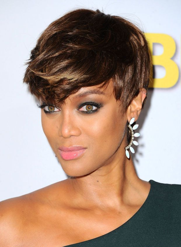 Tyra Banks at the 2015 Disney ABC Summer Press Tour. http://beautyeditor.ca/2015/08/10/best-celebrity-beauty-looks-lea-michele