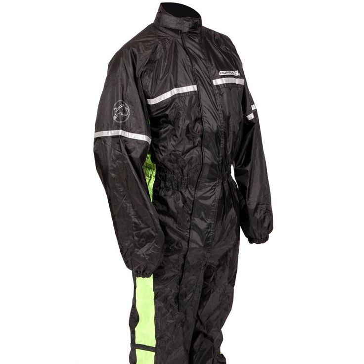 Buffalo 1-Piece Motorcycle Rain Suit  Description: The Buffalo 1 Piece Motorbike Rain Suits are packed       with features..              Specifications include                      One piece waterproof.                    Lightweight.                    Mesh lined upper.                    Diagonal zip.                    Wide leg...  http://bikesdirect.org.uk/buffalo-1-piece-motorcycle-rain-suit-13/