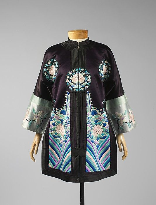 Coat, 20th c., Chinese, silk * 1500 free paper dolls at international artist Arielle Gabriels The International Paper Doll Society also free Chinese paper dolls The China Adventures of Arielle Gabriel *
